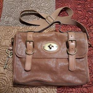 Fossil Long Live Vintage Messenger Satchel Bag EUC
